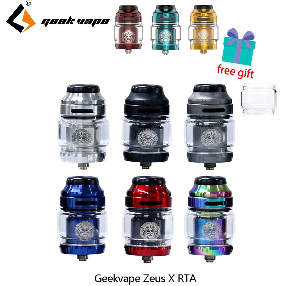 Vape tanque geekvape zeus x rta 4.5ml capacidade do tanque com 810 delrin gotejamento ponta cigarro eletrônico atomizador vs zeus duplo/ammit mtl