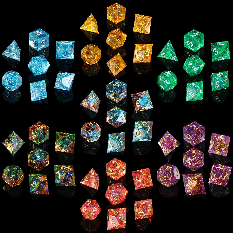 Набор костей для ролевых игр, DND 7 шт. зеркало ручной работы многогранные кости набор для D & Подземелья и Драконы настольные игры для ролевых ...