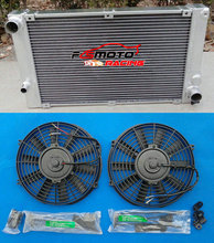 อลูมิเนียม Radaitor + พัดลมสำหรับ Porsche 944 Turbo Rad 1983 1988 84 85 86 87