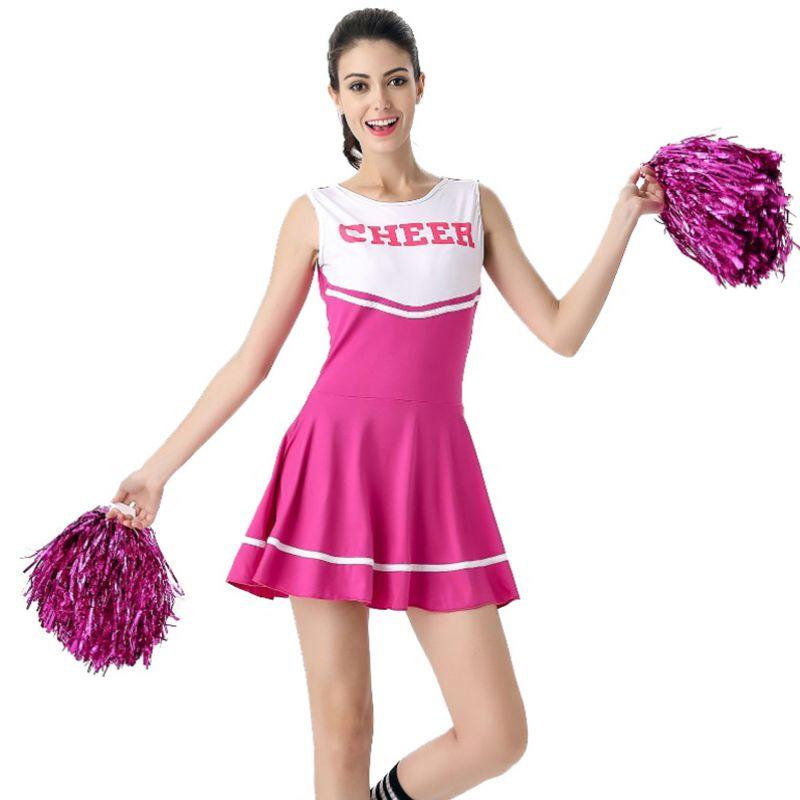 Sexy Baby Girl Stage Performance Female School Girl Music Mini Dress Cheerleader Uniforms