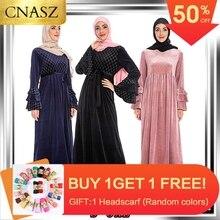 2019 Elegant Fashion Muslim Abaya Dubai Long Sleeve Dress High Quality Islamic Turkey Indonesia Women Clothes Have Plus Size