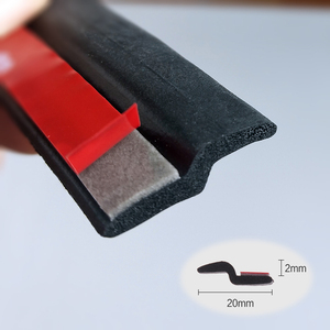 Image 1 - Tira de sellado en forma de Z para puerta de coche, burlete de aislamiento acústico, burlete de goma, embellecedor, sellos de goma automáticos