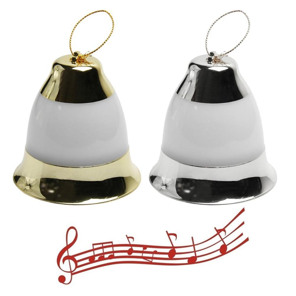 1pcs LED Christmas Decorations Lights Music Bells Voice-activated Christmas Bells Christmas Tree Pendants