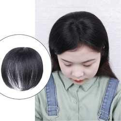Невидимый накладной парик для волос, женский парик с верхней головкой, короткий парик черного цвета для ежедневного использования