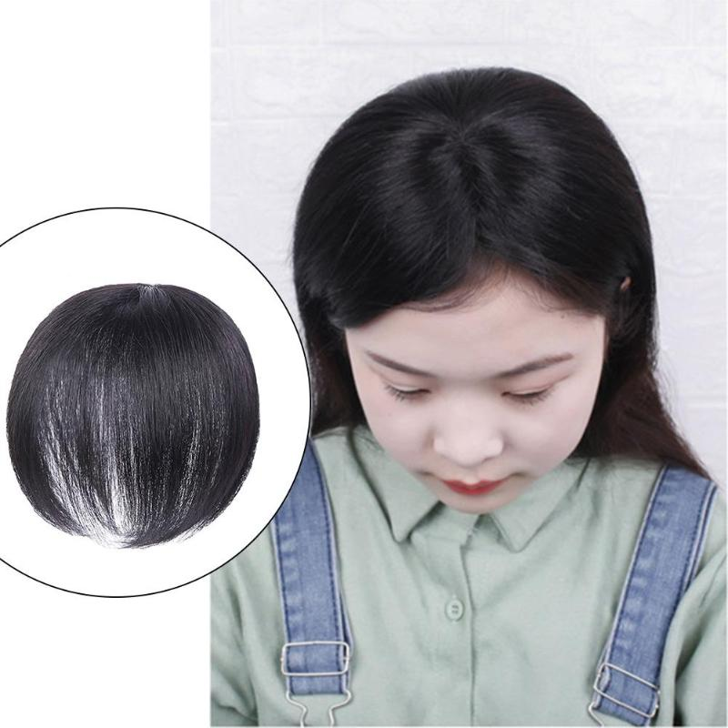 Invisible Hair Patch Wig Cover Women Wigs Top Head Hairpieces Short Wig Black Colors For Daily Use