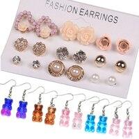 Bulk Box 4//6//8//10MM Pearl Stud Earrings For Women Elegant Jewelry Party Gifts