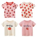 Yocute 2021, детская одежда, комплект для девочек, футболка для детей с короткими рукавами и рисунком для девочек, летняя футболка из хлопка для д...