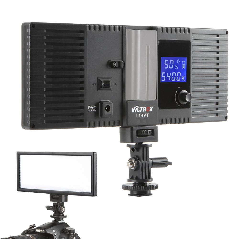 Viltrox L132T LED Video Light Ultra Thin LCD Bi-Color & Dimmable DSLR Studio LED Light Lamp Panel for Camera DV Camcorder