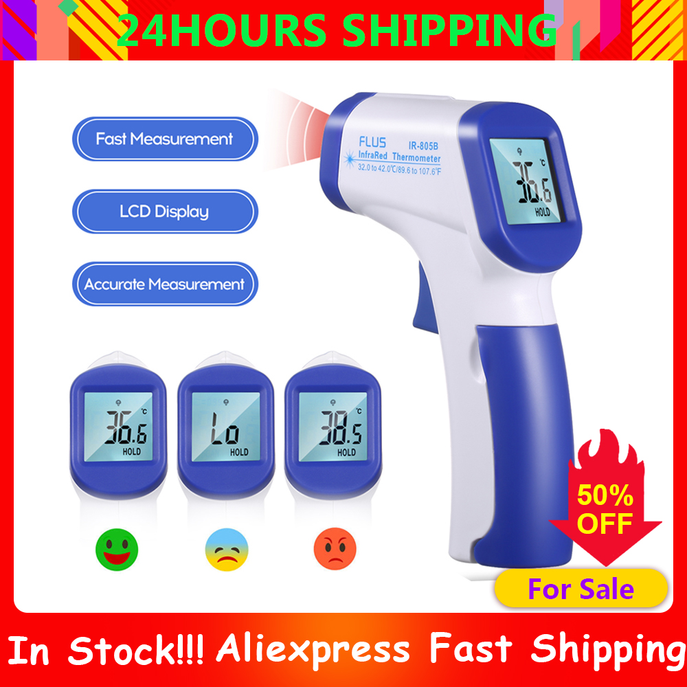 Ear Forehead Infrared Thermometer Digital Baby Temperature Gauge Instrument Kids Adults Termometro Digital Ate Ölçer Temassız
