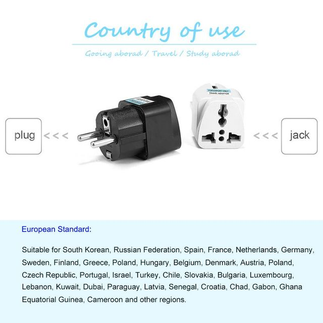1 pièces adaptateur de prise universel ue International AU royaume-uni états-unis à l'ue Euro KR adaptateur de voyage prise électrique convertisseur prise de courant 4