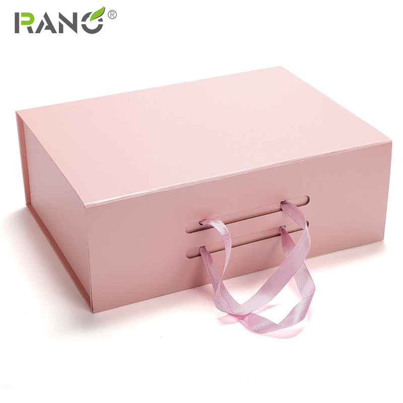 RANO 1pcs High Quality Luxury Black/white/pink / Grey Strong Gift Paper Cardboard Shoe Foldable Box