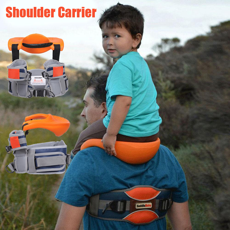 Baby Outdoor Travel Children Tool Hands Free Shoulder Carrier Hip Seat Travel Child Strap Rider Travel Back Frame Infant Saddle