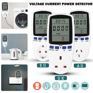 Smart Energy Meter Wattmeter EU/UK/AU Plug Power Meter Watt Kwh Measuring Socket Analyzer Electricity Wattage Monitor