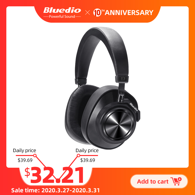 Bluedio T7 Bluetooth Headphones User defined Active Noise Cancelling Wireless Headset for phones and music with face recognition|Bluetooth Earphones & Headphones| |  - AliExpress