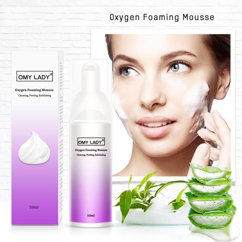 Exfoliante de limpieza Mousse eliminación de espinillas limpiador facial humectante, limpiador profundo Control de aceite cuidado de la piel de la cara