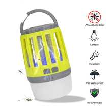 Mosquito Killer Camping Light 2-in-1 Bug Zapper Lamp USB Rechargeable Lantern Portable Waterproof