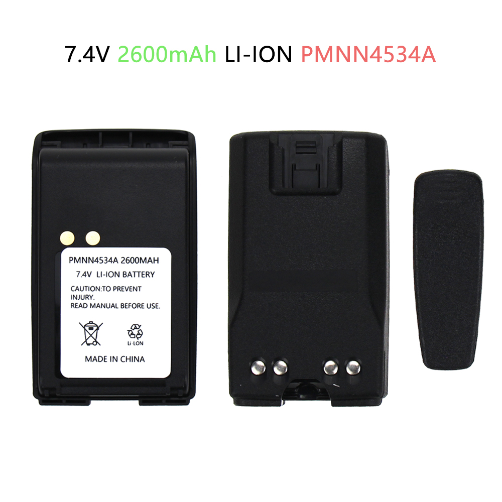 7.4V 2600mAh Li-ion Replacement Battery For Motorola Mag One BPR40 A8 PMNN4534A Two-Way Radio Battery