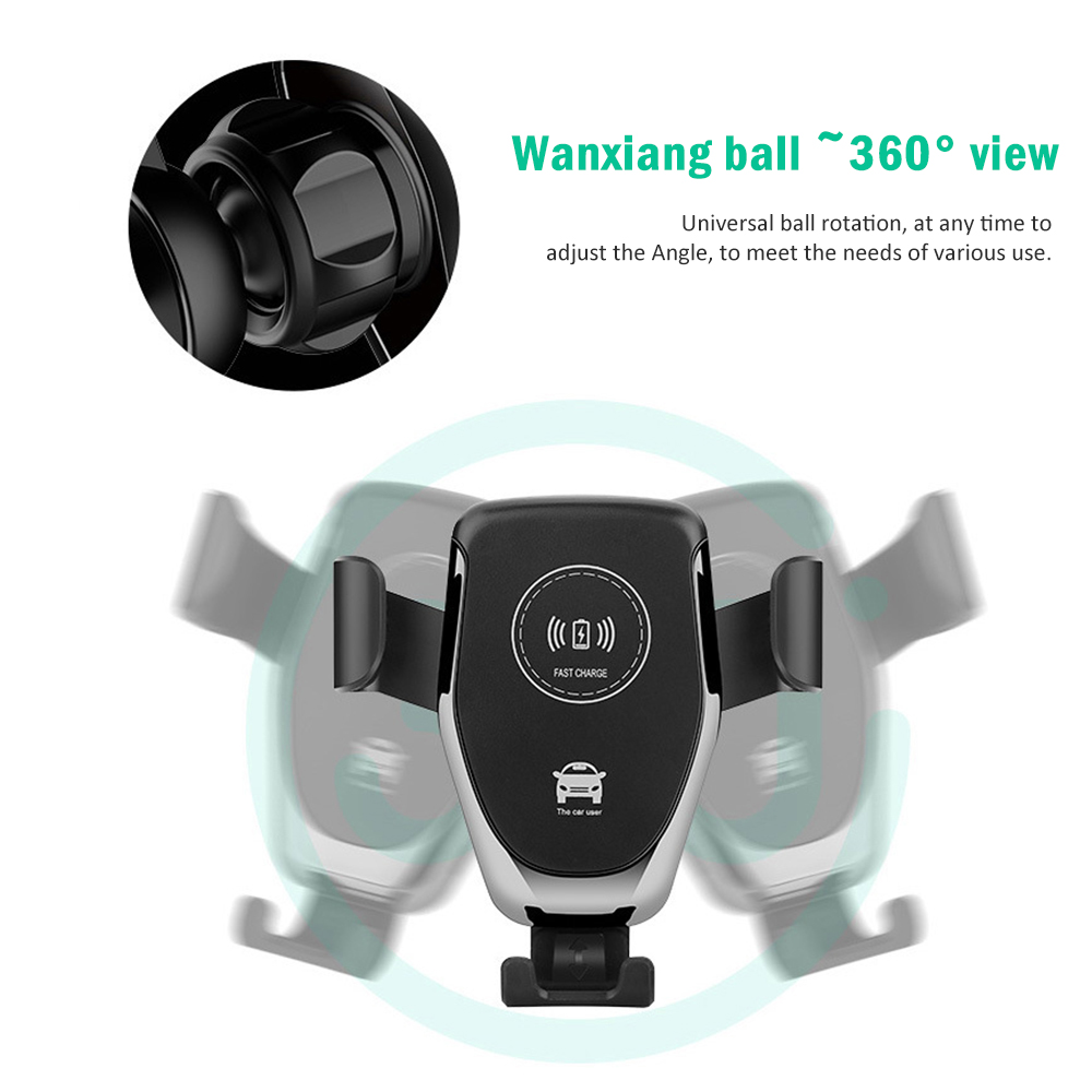 10W Wireless Charger Holder Stand Fast Charging Air Vent Car Gravity Mount Smart Wireless Fast Charging for Phone