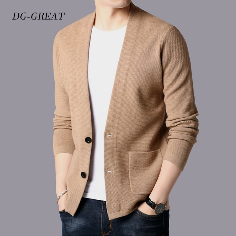 Men's Medium Length Cardigan Loose Cape Spring Autumn Thin Style Japanese Pure Color Casual Sweater Outerwear Trend