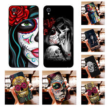 NBDRUICAI Hot Catrinas and skull Fashion Black TPU Soft Rubber Phone Cover For Vivo Y91c Y17 Y51 Y67 Y55 Y93 Y81S Y19 Y7S Case(China)