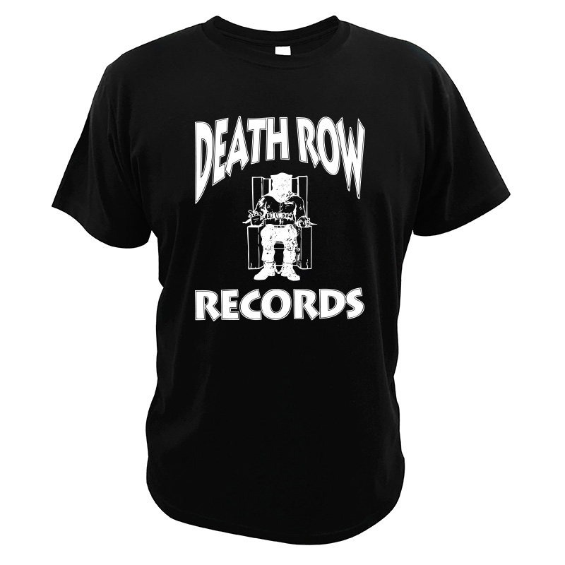 <font><b>Death</b></font> <font><b>Row</b></font> Records <font><b>T</b></font> <font><b>Shirt</b></font> Multi-platinum Hip Hop Albums Tshirt Pure Cotton Breathable Comfortable Tee Tops image