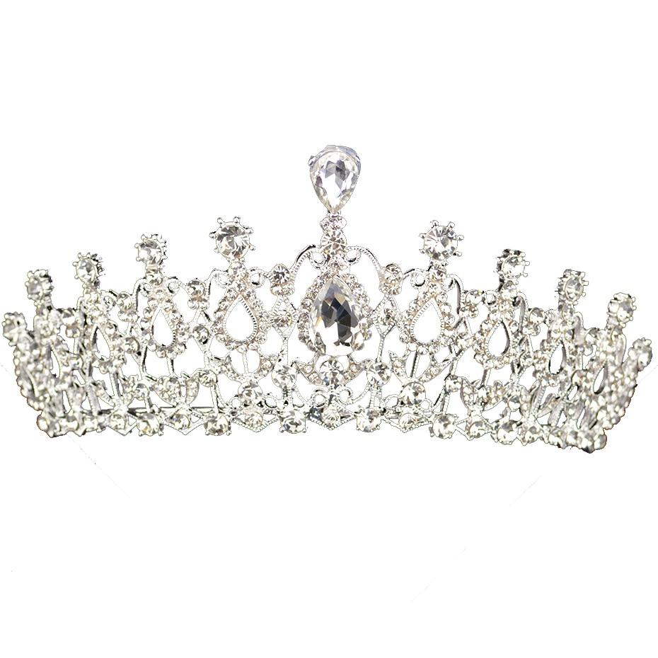 Himstory Noble Beauty Princess Tiara Cubic Zircon Wedding Bridal Crown Rhinestone Pageant Crown For Brides Headbands