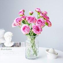 ABDO Rose DIY 50cm/long Silk Artificial Flowers High Quality 10cm Big Head Wedding Fake Festival Supplies Home Decor