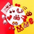 AENSOA Korea 2021 Rot Mehreren Stil Ohrringe Für Frauen Einfache Art Und Weise Acryl Harz Metall Geometrische Ohrringe pendientes