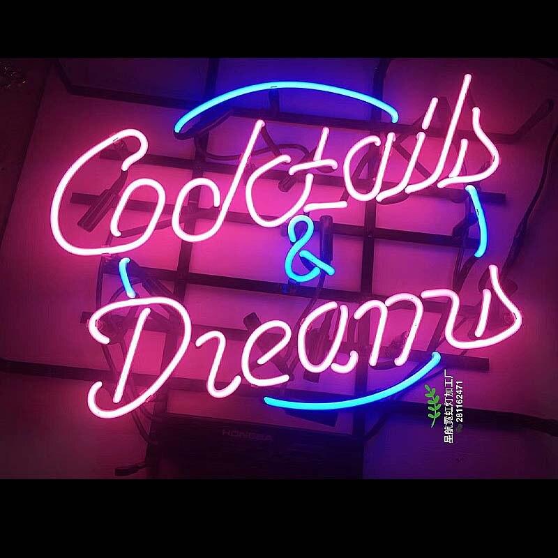 Néon personnalisé impression Cocktail rétro métal signe Bar Pub Club homme grotte