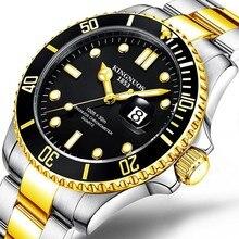 лучшая цена KINGNUOS Quartz Male Watch Business Casual Men's Steel Brand Calendar Japan Waterproof Calendar Quartz Wrist Watches Clock