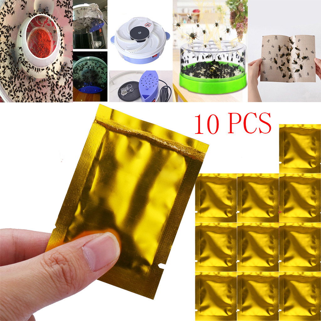 10PCS/Lot Effective Killer Mosquitoes Powder Bait Special Insecticide Bug Beetle Insect Fly Killer Anti Pest Reject Trap Pest