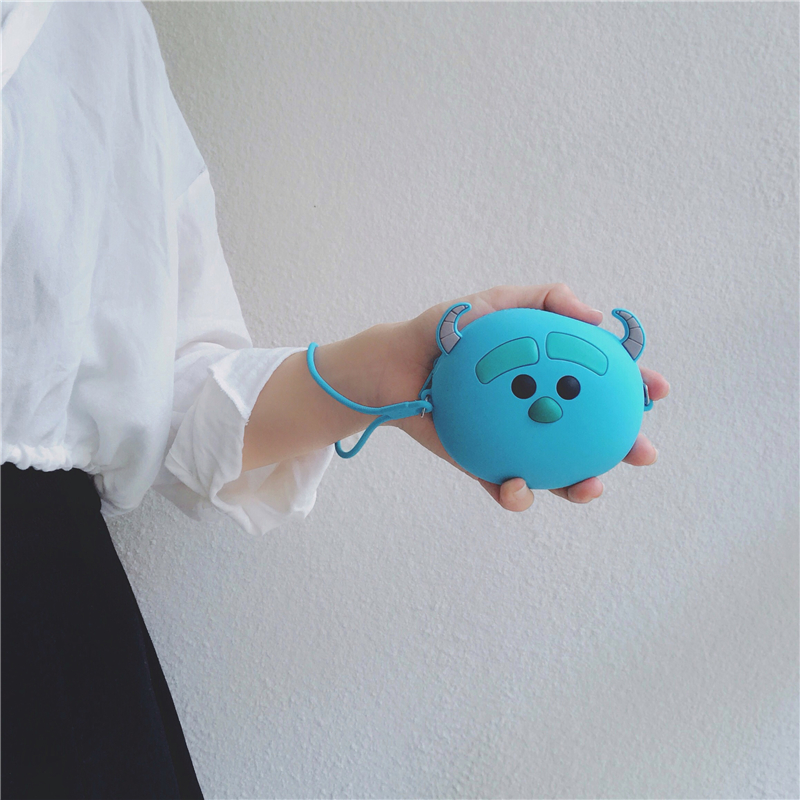 New Hot Brand Cute Sulley Women Silicone Wallet Girls Mini Coin Purse Key Wallets For Female Daily Clutch Purses Headset Bags