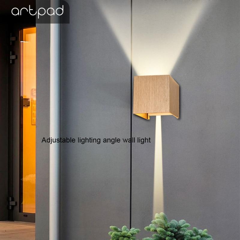 arandelas 6w quadrado wall lampada 02