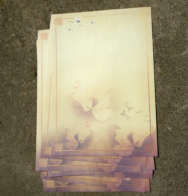 Sui Yue Fang Chinese-style Ancient Writing Paper Characteristics Cool Beautiful Antique Style Writing Paper Of Bearing Reflectio