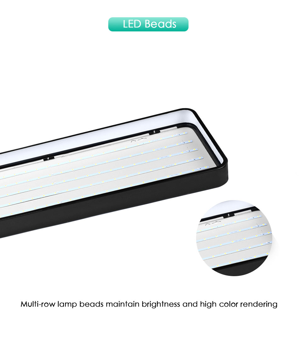Hb36a3d05aa454f6293464fdb687bc400I Modern LED Ceiling Light Lamp Lighting Fixture Rectangle Office Remote Bedroom Surface Mount Living Room Panel Control 110V 220V