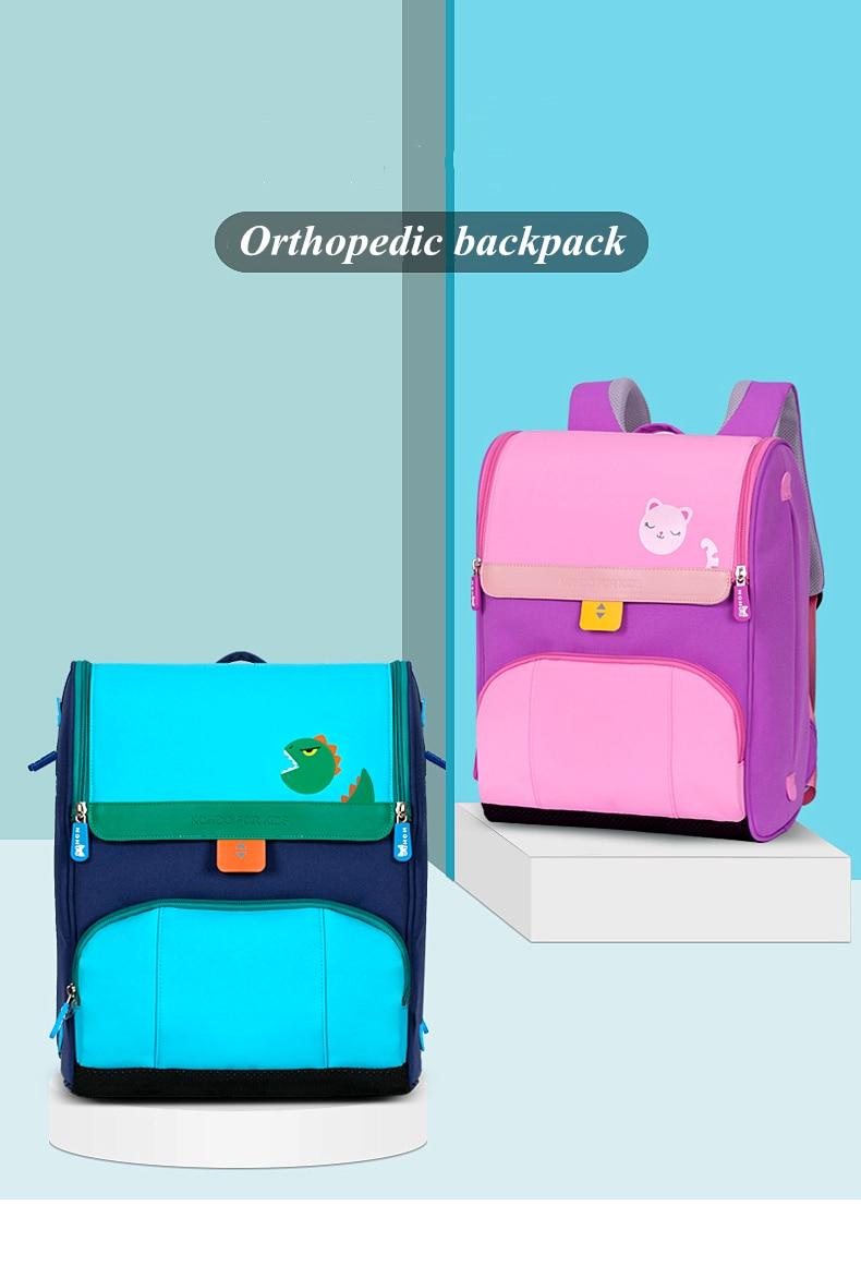 NOHOO Multifunction Backpack Polyester Big Capacity Laptop Schoolbag For Teenager Girls Boys Travel Orthopedics Toddler Book Bag