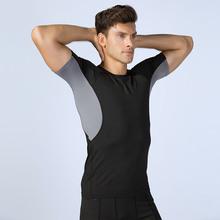 Koszulki do biegania koszulki z krótkim rękawem koszulki z krótkim rękawem koszulki z krótkim rękawem koszulki sportowe z krótkim rękawem odzież sportowa mężczyźni Gym Top tanie tanio CN (pochodzenie) Wiosna summer AUTUMN Winter Poliester Pasuje prawda na wymiar weź swój normalny rozmiar S M L XL XXL