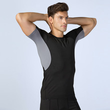 Running T-Shirts Sportswear Short-Sleeve Fitness Compression Workout Quick-Dry Men Gym-Top