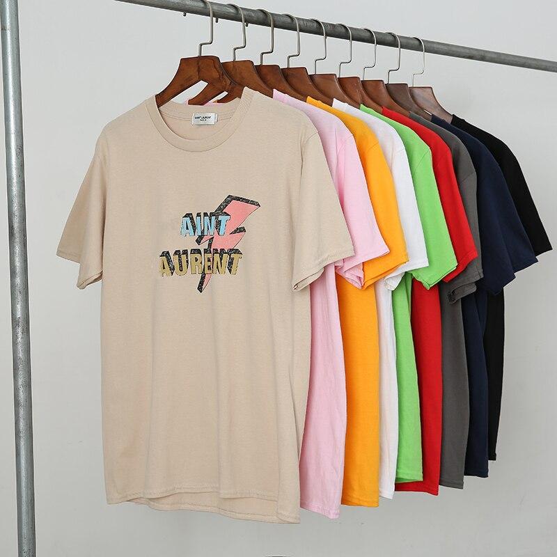 Sommer Frauen Oansatz T-shirt 100% Baumwolle Casual Kurzarm Top Plus Größe Marke SL Brief Drucken Liebhaber Tees Neue Weibliche t-shirts