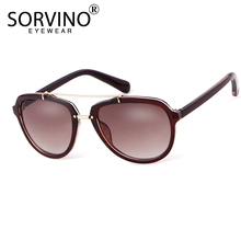 SORVINO Retro Luxury Pilot Sunglasses Women 2020 Shades Bran