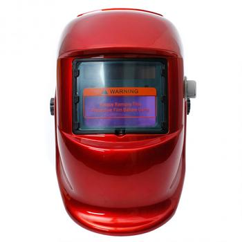 Red Cover Auto Darkening Solar Welders Welding Helmet Mask with Grinding Function Ideal for ARC/MIG/TIG/Stick Welding auto darkening welding helmet mask welders arc tig mig grinding welding lens solar powered electric welding mask accessories