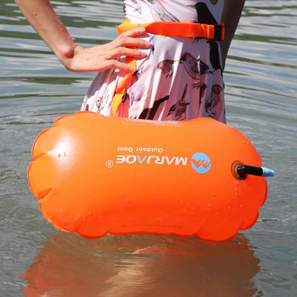 1X PVC Swimming Buoy Safety Air Dry Tow Bag Float Inflatable Signal Drift BagTLE