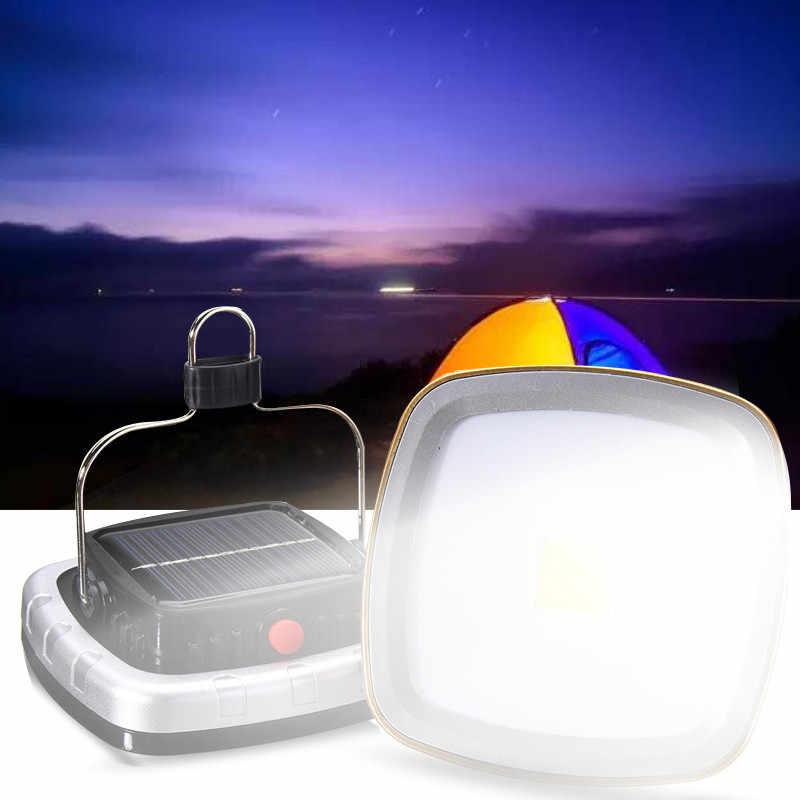 Dc5v recarregável portátil solar luz de inundação led lanterna ao ar livre jardim acampamento tenda lâmpada luz