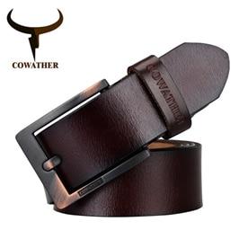 COWATHER-2017-pásy-pro-muže-vysoce kvalitní-kráva-originální-kůže-vintage-Nový-designer-pin-spona-ceinture_