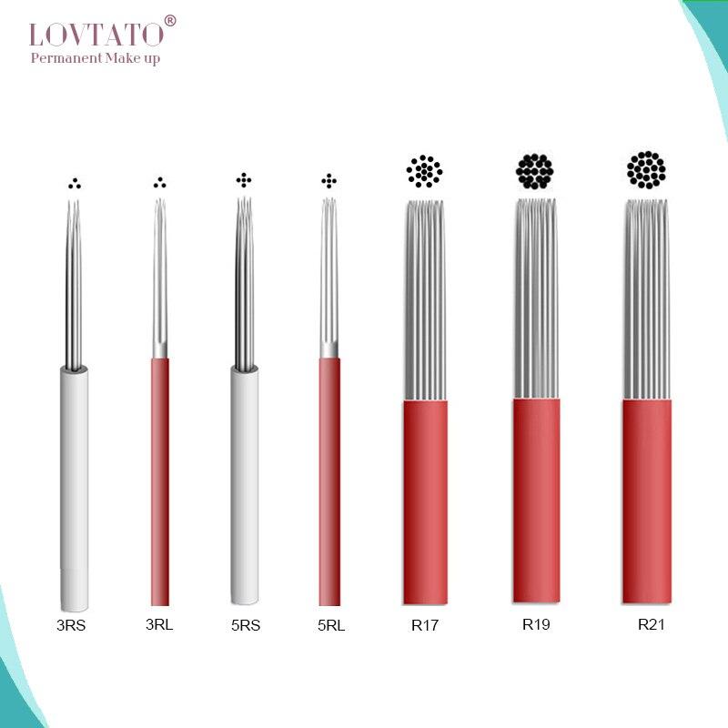 Shading Needles Microblading Shade Blade Tattoo Needle Fog 3D Eyebrow Aiguille Agujas Tattoos R3 R5 R7 R9 R17 R19R21 R40 EXP LOT