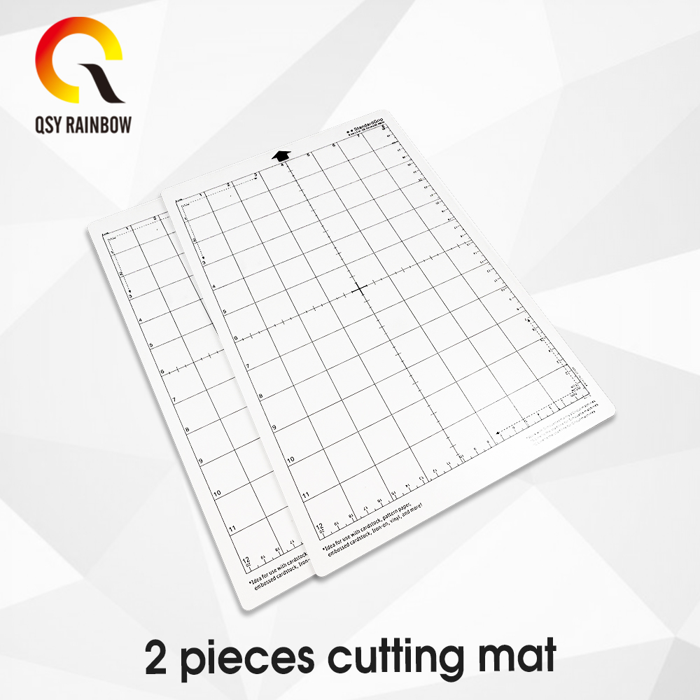 2pcs 8 * 12 Replace Cutting Mat Transparent Adhesive Mat With Measuring Grid 8 * 12 Inch For Silhouette Cameo Plotter Machine