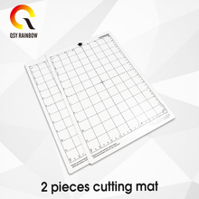 2pcs 8 * 12 Replace Cutting Mat Transparent Adhesive with Measuring Grid Inch for Silhouette Cameo Plotter Machine