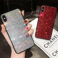 Diamond Glitter Bling Case Voor Xiaomi Redmi Note 8 7 9 Pro Cover Voor Xiaomi Mi 8 Se Lite 9 Mi 5X 6X a1 A2 Mix 2S Mix 3 Note 10