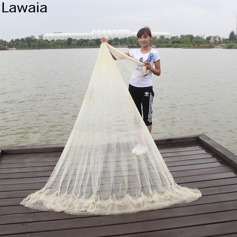 Lawaia Cast Net Nylon Monofilament Casting Network Length 2.5M/3M/3.5M/4M Fish Gill Nets Hand Throw Fishing Net