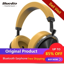 Bluedio T5S Active Noise Cancelling Wireless Bluetooth Headphones Portable Headset with microphone for all phones
